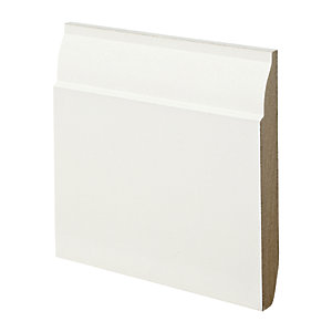 Wickes Dual Purpose Chamfered/Ovolo MDF Skirting 18 x 144 x 3600mm Pack 2