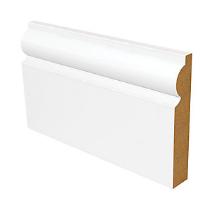Wickes Torus Fully Finished Skirting 18 x 119 x 3600mm Pack 2