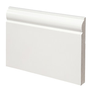 Wickes Torus Fully Finished MDF Skirting 18 x 144 x 3.6mm Pack 2