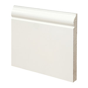 Wickes Torus Fully Finished MDF Skirting 18x169x3.6mm Pack 2