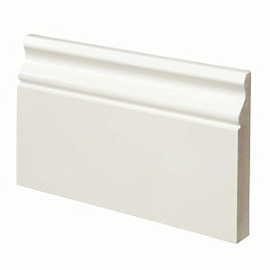 Wickes Ogee Fully Finished MDF Skirting 18x119x3.6mm Pack 2