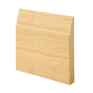 Wickes Ovolo Oak Veneer Skirting 18x144x2400mm Pack 2