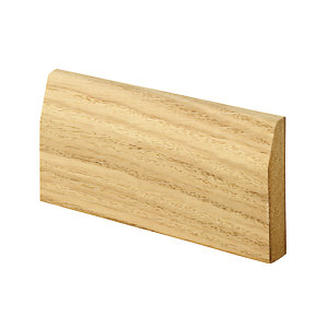 Wickes Chamfered Oak Veneer Architrave 15 x 69 x 2100mm Pack 5