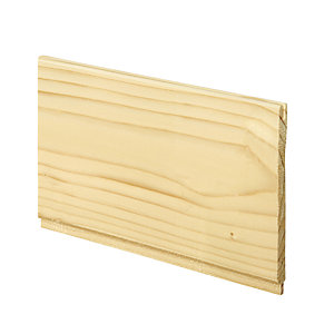 Wickes Softwood Timber Traditional Cladding 7.5x96x900mm Single