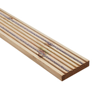 Wickes Anti Slip Deckboard 28 x 140mm x 2.4m
