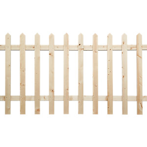 Wickes Palisade Picket Fence Kit 1.8m x 0.9m Untreated Timber