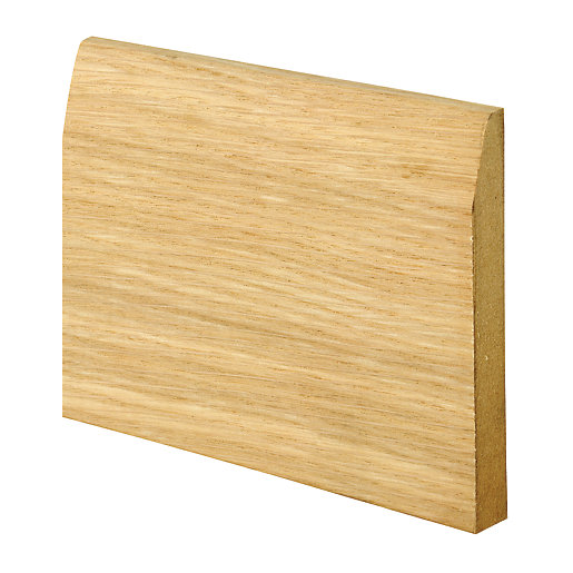 Wickes real oak veneer chamfered skirting 15 x 120 x for Hardwood skirting