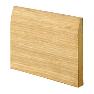 Wickes Real Oak Veneer Chamfered Skirting 15 x 120 x 2400mm Pack 2