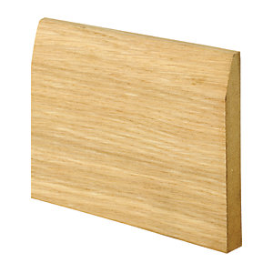 Wickes Real Oak Veneer Chamfered Skirting 15 x 120 x 2400mm