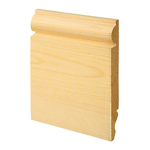 Wickes Dual Purpose Pine Torus/Ogee Skirting 19 x 167 x 2400mm Pack 4