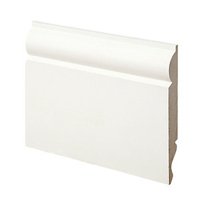 Wickes Dual Purpose Primed MDF Torus/Ogee Skirting 14.5 x 119 x 2400mm Pack 4