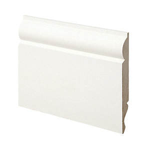 Wickes Dual Purpose Primed MDF Torus/Ogee Skirting 14.5 x 119 x 3600mm Pack 2
