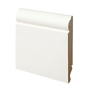 Wickes Dual Purpose Primed MDF Torus/Ogee Skirting 18 x 144 x 2400mm Pack 4