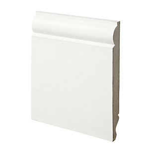 Wickes Dual Purpose Primed MDF Torus/Ogee Skirting 18 x 169 x 2400mm Pack 2