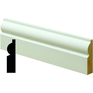 Wickes Pre Primed MDF Torus Architrave 14.5x58x2400mm Pack 5