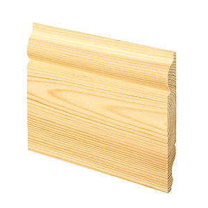 Wickes Dual Purpose Pine Torus/Ogee Skirting 15 x 119 x 3600mm Pack 4