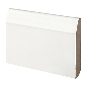 Wickes Dual Purpose Primed MDF Large Round/Chamfered Skirting 14.4 x 94 x 2400mm Pack 5
