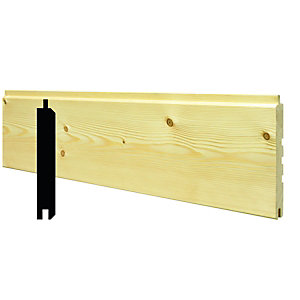 Wickes Treated Softwood Exterior Cladding 18x144x3000mm