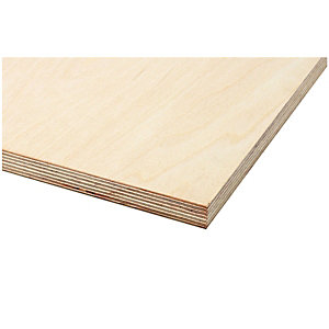 Wickes High Strength Exterior Birch Plywood 6.5x1220x2440mm