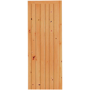 Wickes Keswick Internal Softwood Door Knotty Pine Ledged & Braced 6 Panel 1981x838mm