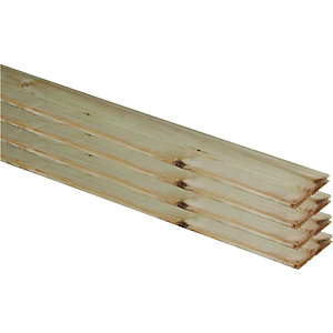 Wickes Planed Tongue And Groove Nordic Pine Flooring 20x144x2050mm Pack 4