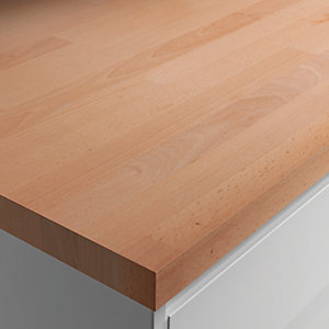 Wickes Solid Wood Beech Worktop 28x600mmx3m