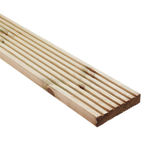 Wickes Premium Treated Pine Deck Board 140x28mm