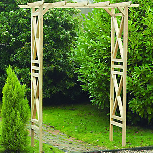 Wickes Garden Arch 0.92x2.46x1.8m Light Green