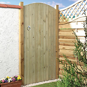 Wickes Softwood Ledged & Braced Arched Top Timber Gate 1829 x 915mm