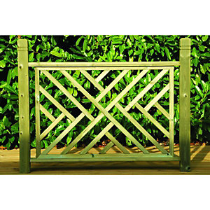 Wickes Contemporary Wooden Deck Panel 760x1130mm Light Green