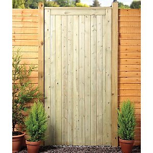 Wickes Softwood Framed Ledged & Braced Flat Top Timber Gate 1829 x 914mm