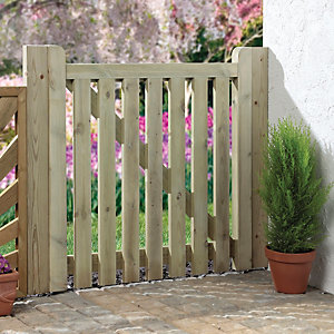 Wickes Softwood Open Slatted Timber Gate 895 x 915mm