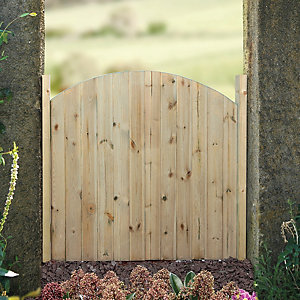 Wickes Softwood Arched Top Timber Gate 895 x 915mm