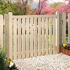 Wickes Softwood Timber Slatted Gate Kit 914 x 1206mm