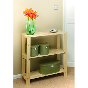 Wickes 3 Tier Pine Shelving Unit