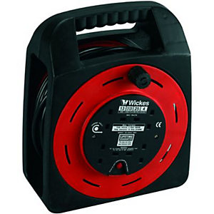 Wickes Easi Reel Cable Reel With Thermal Cutout 4 Sockets 25m 13A