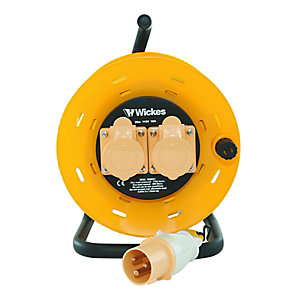 Wickes Extension Cable Reel 25m 110v