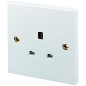 Wickes 13A Unswitched Socket 1 Gang White