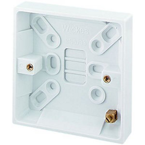 Wickes Pattress Box 1 Gang 16mm