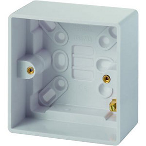 Wickes Pattress Box 1 Gang 47mm