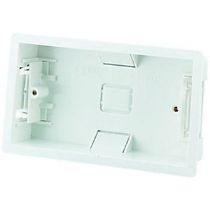 Wickes Dry Lining Box 2 Gang White 6 Pack