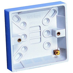 Wickes Pattress Box 1 Gang 25mm 6 Pack