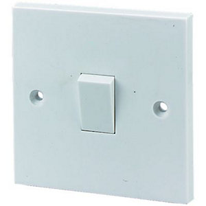 Wickes 10A Light Switch 1 Gang 2 Way White 6 Pack