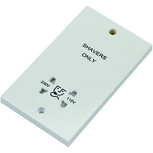 Wickes Dual Voltage Shaver Socket 2 Gang White