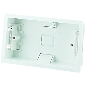 Wickes Plasterboard Box 2 Gang White