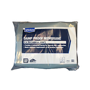 Wickes 1200 Gauge Blue Damp Proof Membrane 4 x 5m