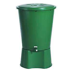 Wickes Round Rainwater Butt 510L with Lid & Tap