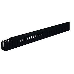 Wickes Self Adhesive Slotted Trunking Black 38x25mmx2m