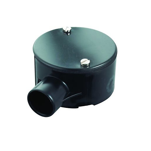 Wickes 1 Way Terminal Junction Box Black 25mm Wickes Co Uk