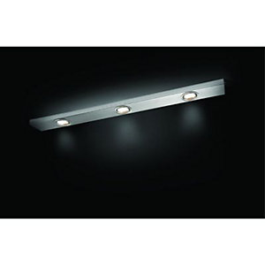 Wickes Melbourne Under Cabinet Triple Downlight Brushed Chrome